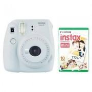Fujifilm Aparat FUJIFILM Instax mini 9 Smoky Biały + 10 Wkładów Filmowych