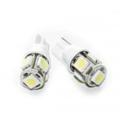 LED POZITIE W5W T10 5 LED-URI SMD 2 buc.