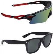 Zyaden Combo of 2 Sunglasses Sport and Wayfarer Sunglasses- COMBO 2756