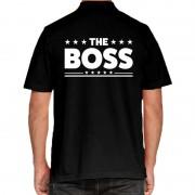 Bellatio Decorations Zwart The Boss polo t-shirt voor heren XL - Feestshirts