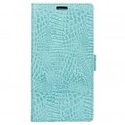 Capa tipo Carteira Crocodile para Samsung Galaxy Xcover 4 - Ciano