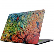 Para MacBook Air De 13,3 Pulgadas (2011 - 2013) A1369 Y A1466 / Md231 / Mc965 / Md760 / Md761 / Mc966 Colorido Arbol Pajaro Colorido Patrón Laptop Water Decals PC Estuche Protector