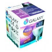 Bec LED GU10 Galaxy 4W, 6500K, 300lm, 220V lumina rece
