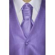 Svatební vesta s kravatou a kapesníčkem Fialová Avantgard 552-9318-52