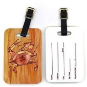 Caroline's Treasures 8139BT Pair of Crab Luggage Tag(Multicolor)