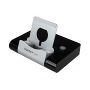 StarTech.com Concentrador USB 3.0 de 3 Puertos, Hub con Puerto de Carga Rápida (2.1A) y Base para Laptops/Tablets, Negro