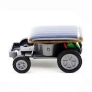 Livoty Smallest Solar Power Mini Toy Car Racer Educational Solar Powered Toy (Black)