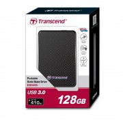 SSD EXTERNAL, 128GB, Transcend, USB3.0, Black (TS128GESD400K)
