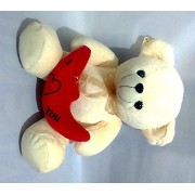 Theme My Party Love Teddy Bear For Loved One (Cream)