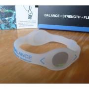 Balanční náramek s hologramem Power Balance - průhledný-modrý