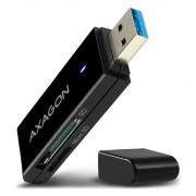 Card reader Axagon CRE-S2, USB 3.0, 2 in 1, SD, microSD, Negru