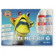 Tempera Koh-i-noor 6 bucati / set 16 ml E2493