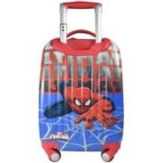 N-BLUES Polycarbonate 18 Inch Spiderman Blue 2000Cms 4 Wheel Kids Hardsided Trolley Bag Check-in Luggage - 23 inch(Blue)