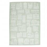 Dille&Kamille Torchon, coton, vert/blanc, façades