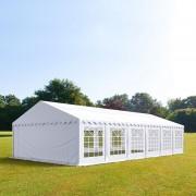 Intent24.fr Tente de réception 6x12m PVC 500 g/m² blanc imperméable barnum, chapiteau