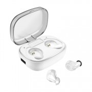 X10-Plus TWS Bluetooth 5.0 Headset Digital Display Wireless Bluetooth Earbuds with Charging Case - White