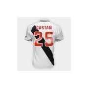 Camisa Vasco II 2018 Nº 25 - Castán - Torcedor Diadora Masculina - Masculino Branco