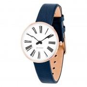 Arne Jacobsen Clocks Armbandsur Roman Vit/rose guld/blå 30 mm Arne Jacobsen Clocks