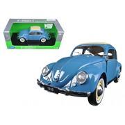 1950 Volkswagen Classic Old Beetle Split Window Blue (1:18)