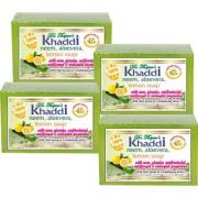 Khadi Neem Alovera Lemon Glycerin Soap (Premium Brand) By Dr. Thapar Buy 3 Get 4 (125 Grams Each )