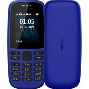 Telefon Nokia 105 (2019) Dual SIM Black-Albastru