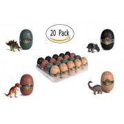 20 DIY 3D Puzzle Miniature Dinosaurs In Large Dinosaur Egg - Eggs With Mini Dinosaur Party Favors Gift Giveaway