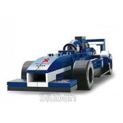 "Sluban Formula One ""Blue Lightning"" Racing Car 196 Pieces (Brand New In Original English Box) 100% Lego Compatible Educational Toy Building Blocks (M38 B0351)"