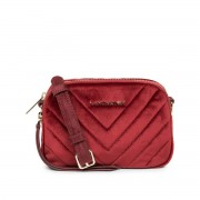 LANCASTER Handtasche mit Steppung ACTUAL VELVET COUTURE, Samt