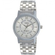 Timex Analog Silver Dial Mens Watch-TW000T123