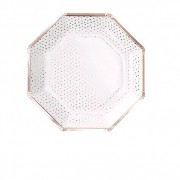 Ginger Ray Assiettes Petits Pois Rose Gold x8