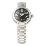 【76%OFF】ラウンドウォッチ ウィメンズ ケース:ブラック ベルト:シルバー ファッション > 腕時計~~レディース 腕時計