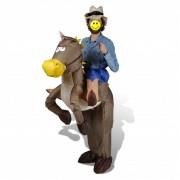 vidaXL Nafukovací kostým kovboj a kůň