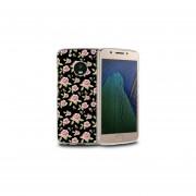 Funda Para Celular Motorola Moto G5 Plus - Flores Negro