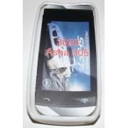 Силиконов гръб ТПУ за Nokia Asha 305 Бял