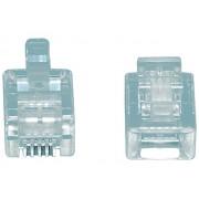 Valueline TEL-0004 RJ11 6p/4c telefon csatlakozó