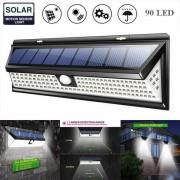 Napelemes kültéri fény, 40 LED, érzékelő, fényerőszabályzó, vezeték nélküli