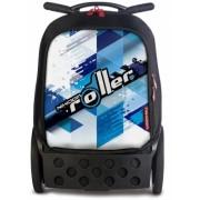 Ghiozdan XL Cool Blue Roller NIKIDOM + cadou rechizite de 100 lei