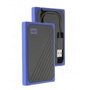 Жесткий диск Western Digital WD SSD My Passport Go 500Gb Blue WDBMCG5000ABT-WESN