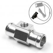 Motorfiets Modificatie Onderdelen Universal CNC Aluminium Water Temperatuur Meter Sensor Joint Transfer Interface Grootte: 22mm(Zilver)