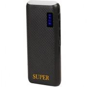 Super Top Light with Percentage Indicator 10000 mah PowerBank (Black)