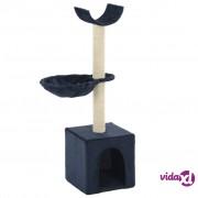 vidaXL Penjalica za mačke sa stupovima za grebanje od sisala 105 cm plava