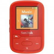 MP3 reproduktor SanDisk Sansa Clip Sport Plus 16 GB, crvene boje, pričvrsna kopča, Bluetooth®, vodootporan