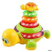 Memtes Light Up Turtle Stacker Toy With Lights And Sound For Baby And Toddler
