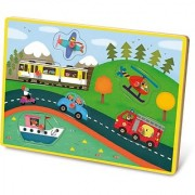 Vilac Musical Pegs Puzzle Transports