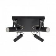 efectoled.com Lámpara LED de Techo Orientable Bari 4 Focos 16W Negro Blanco Neutro