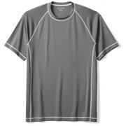 Amazon Essentials Hombre de manga corta de secado rápido playera para nadar UPF 50, Carbón, chico