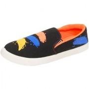 Essar Lites Black Canvas Casual Shoes For Men