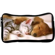 Snoogg Babies Sleeping Poly Canvas Student Pen Pencil Case Coin Purse Utility Pouch Cosmetic Makeup Bag