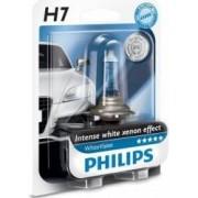 Bec auto cu halogen pentru far Philips H7 12V 55W PX26d White Vision Blister