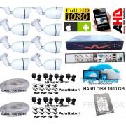 Kit videosorveglianza DVR 8 canali 1000Gb Telecamere AHD 2000tvl 1080p Cavo 200mt